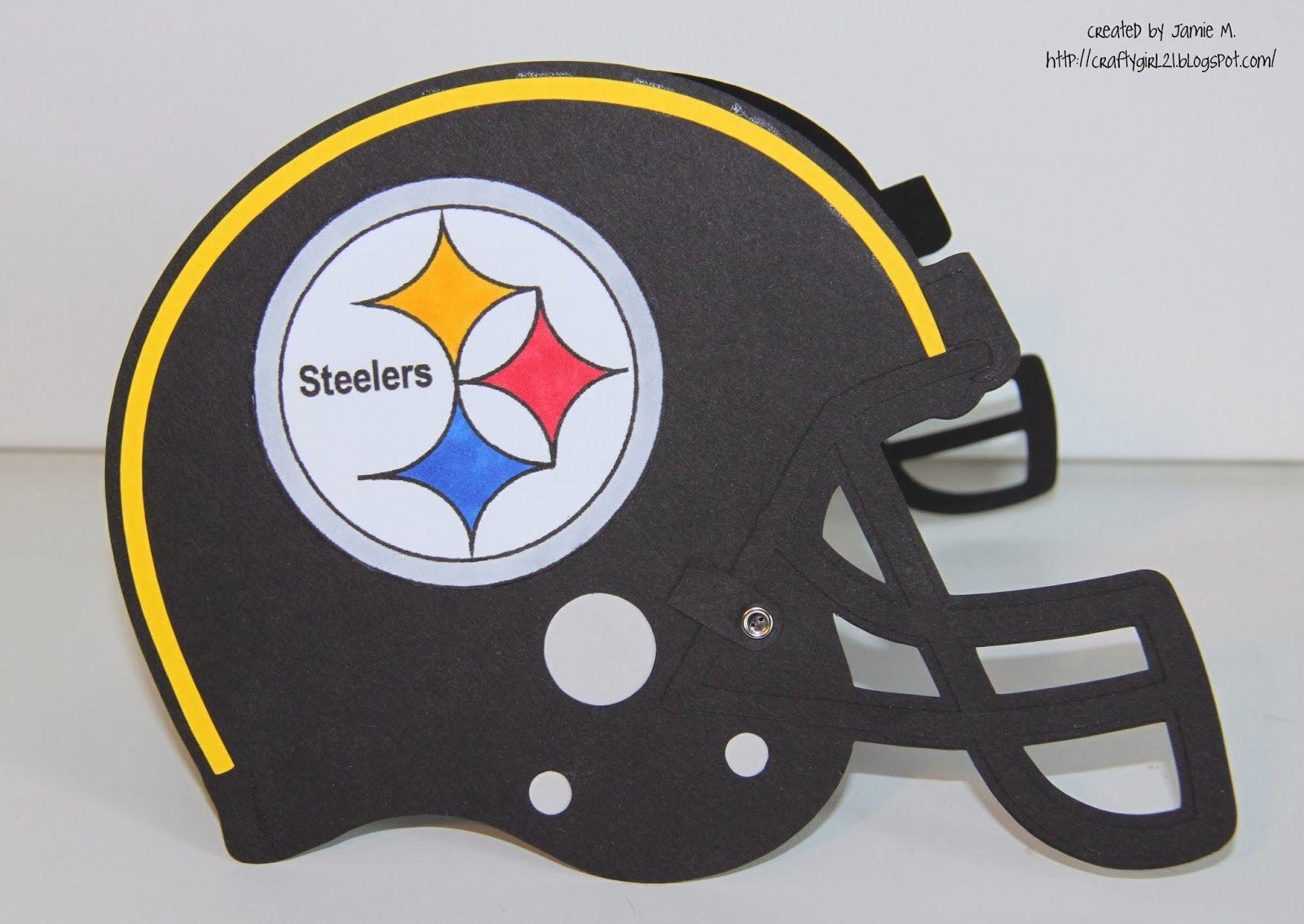 Steelers Helmet Card Steelers helmet, Helmet, Steelers