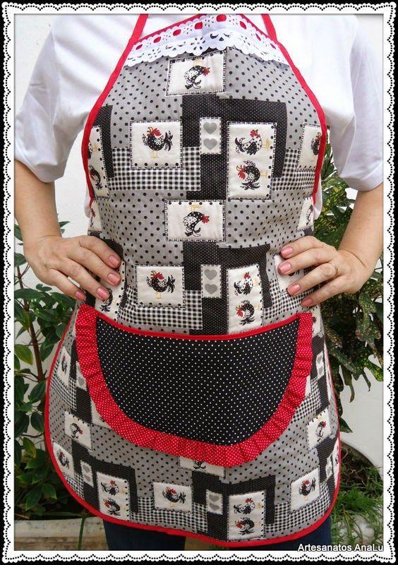 Artesanatos Ana Lu: Avental com bolso