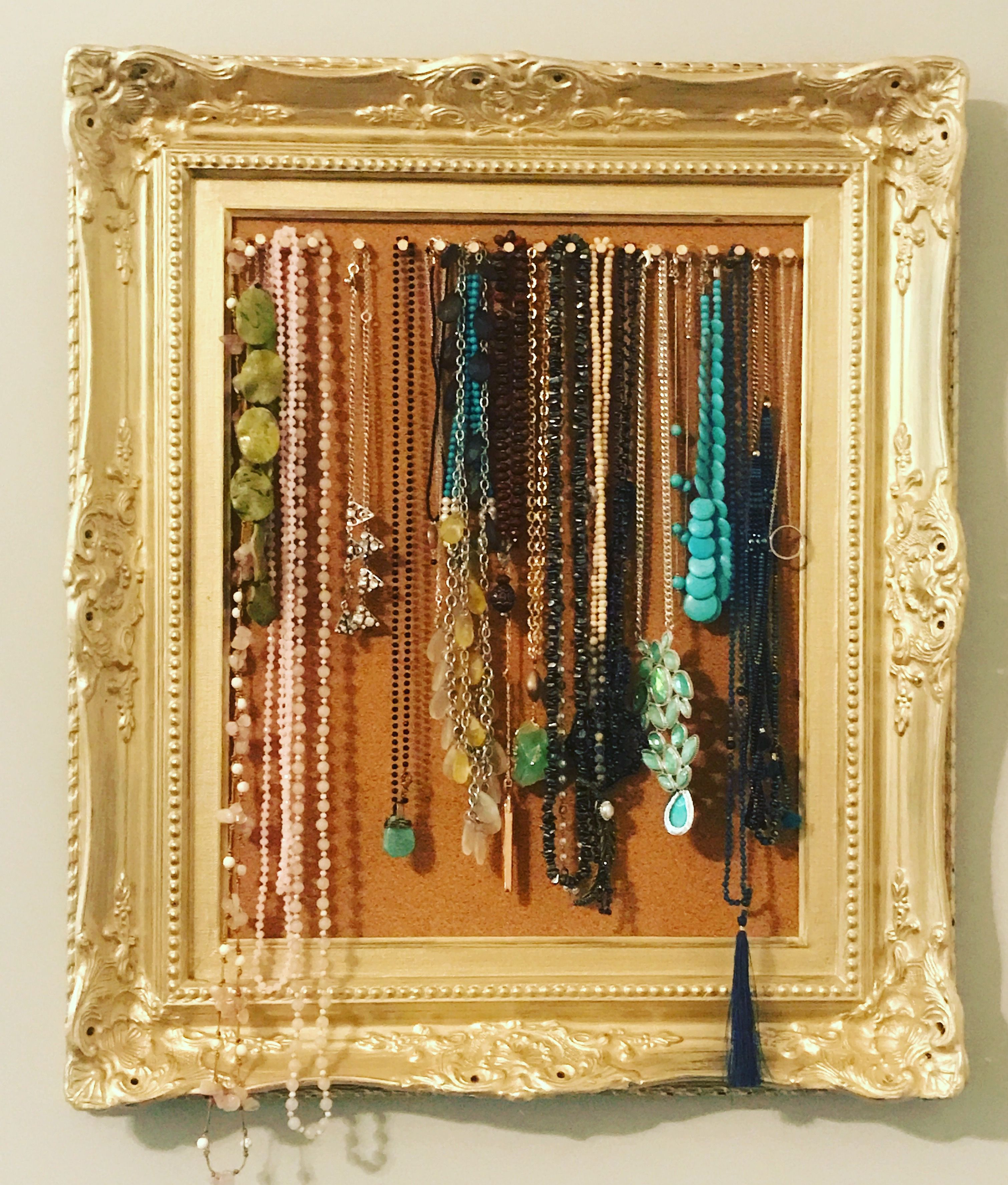16x20 frame and cork board sheet from voilau0027 necklace organizer