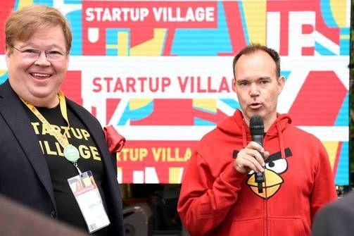 Pekka Viljakainen nappasi Startup Village -tapahtuman suomalais-venäläisellä aamupalalla mikrofonin ääreen myös Rovion markkinointijohtajan, Mighty Eagle Peter Vesterbackan.