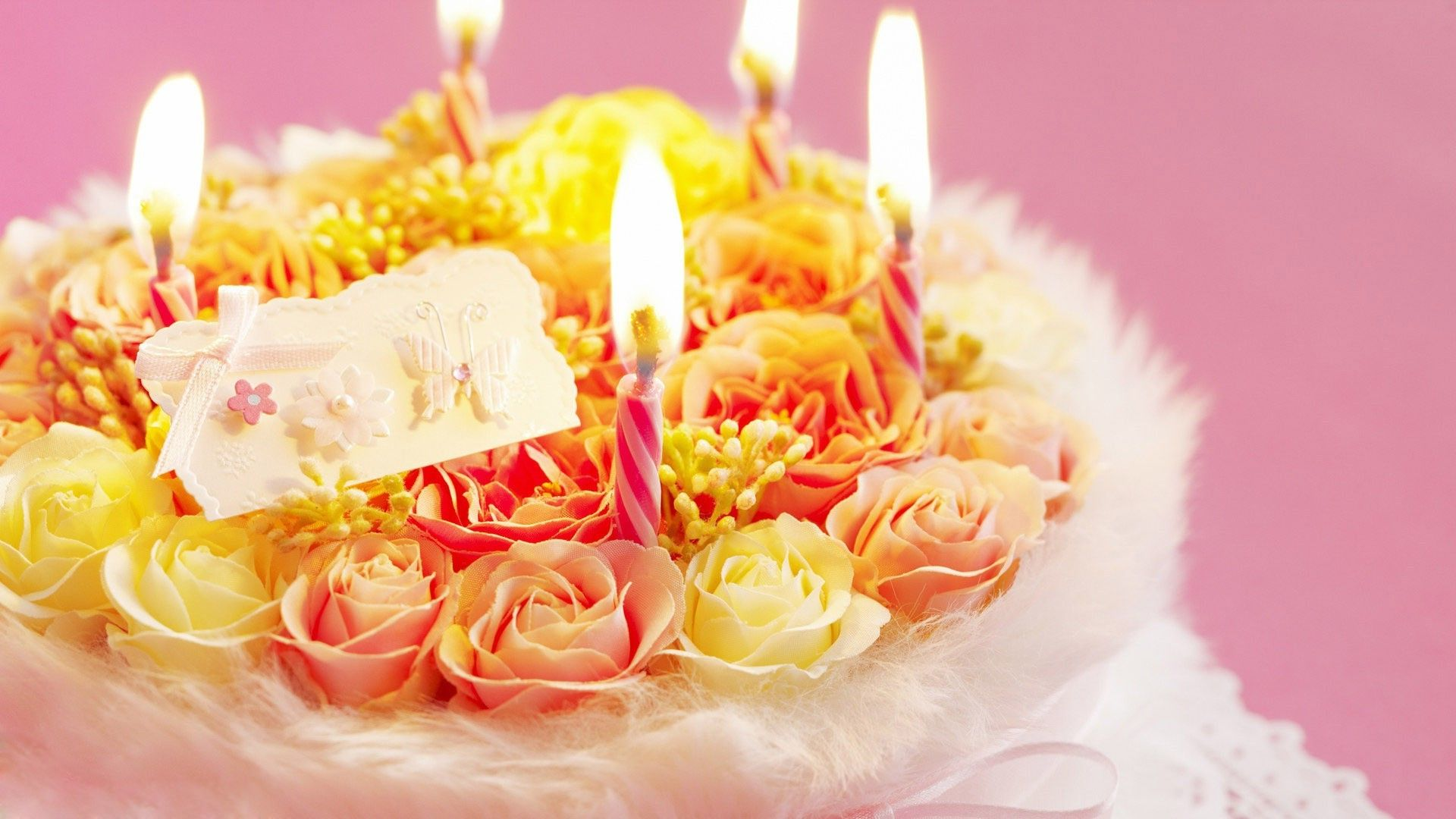 Birthday Flowers Cake Full Hd Large Wallpapers E1457881306118 Jpg 1920 1080 Backgrounds Pinterest Widescreen Wallpaper And