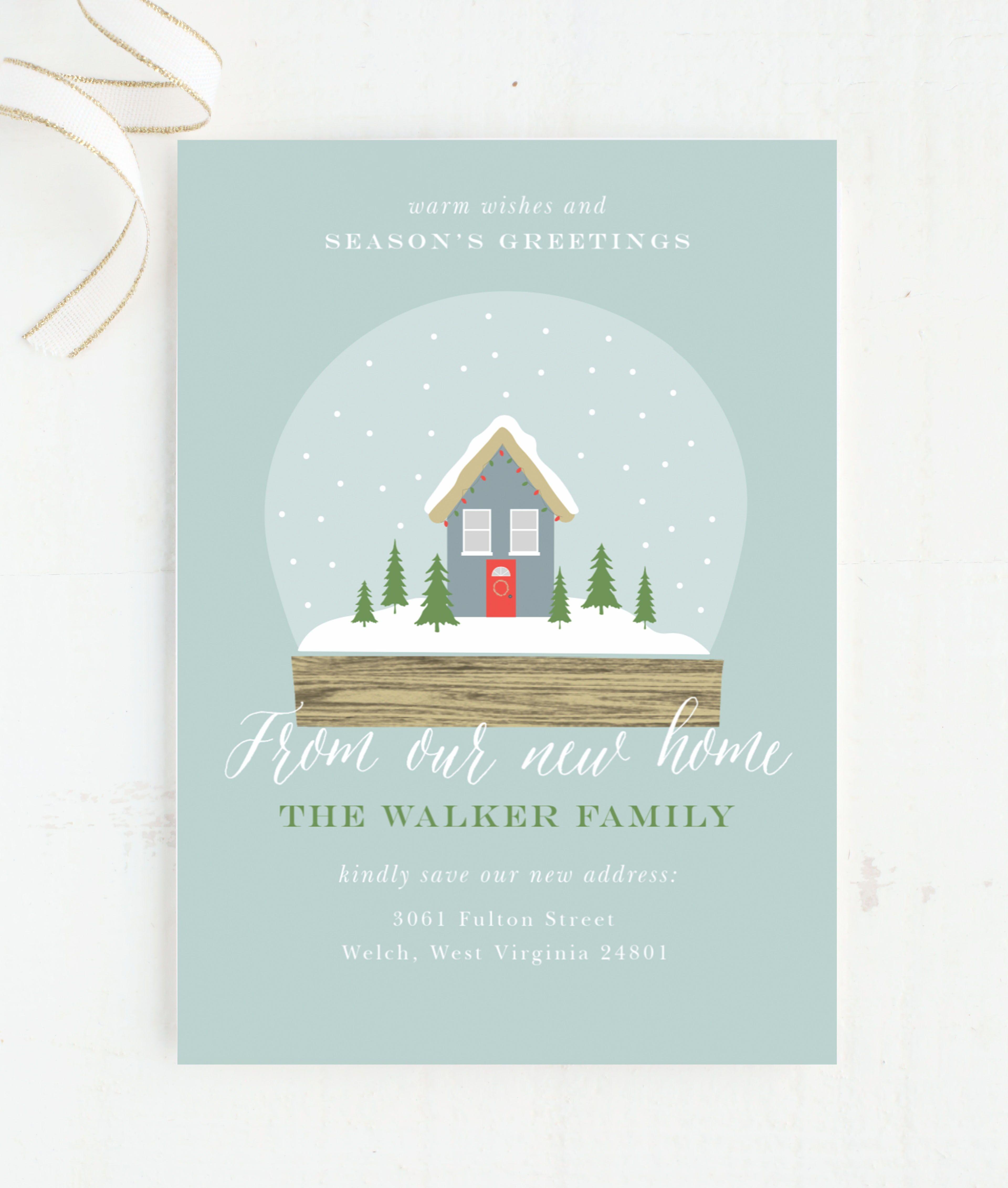 Snow Globe House Christmas Card Holiday Card Photo Christmas Card Cute Christmas Car Moving Christmas Cards Custom Christmas Cards Family Christmas Cards