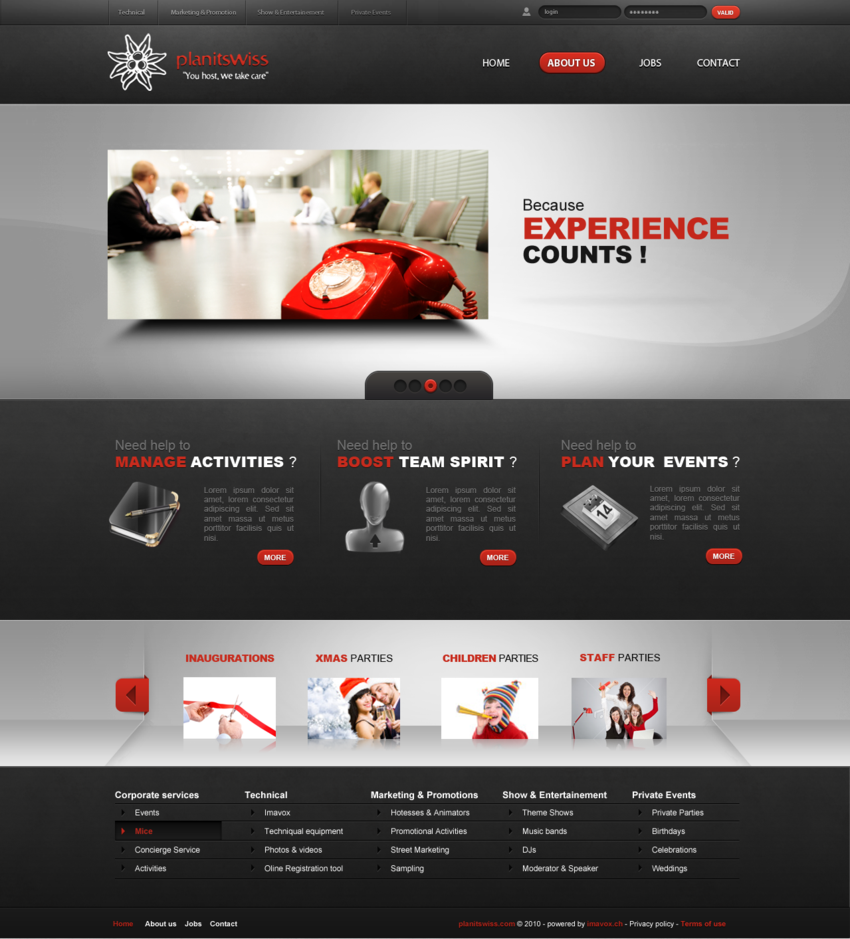 Webdesin Red Black White Smartbanner Web Design Simple Web Design Beautiful Web Design