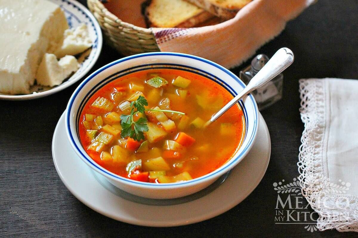Mexican vegetable soup images