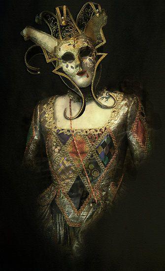 dark harlequin | harlequinade | Carnival of venice ...