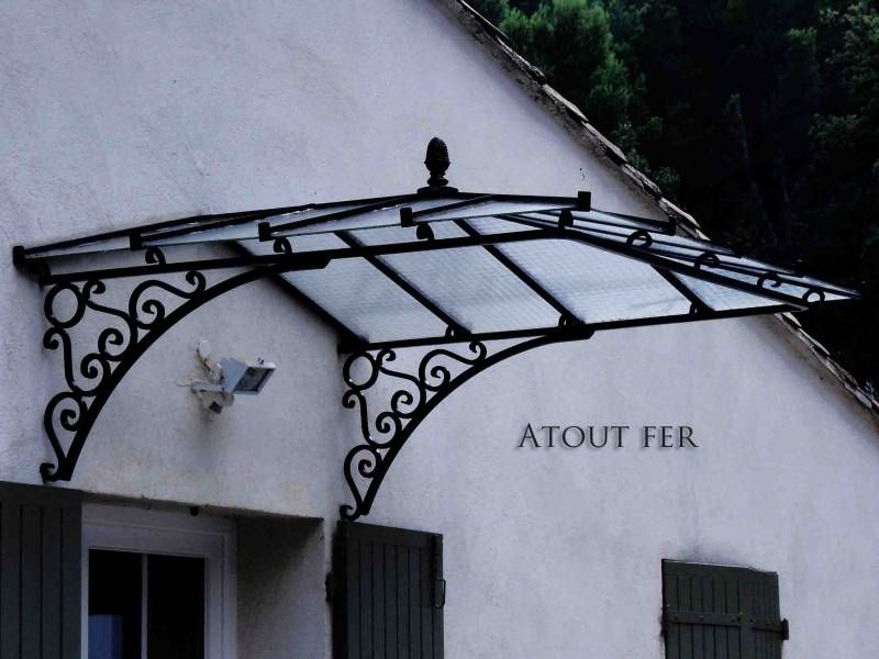 Marquise En Fer Forg Pour Porte DEntre Dans Le Var   Fr Forg