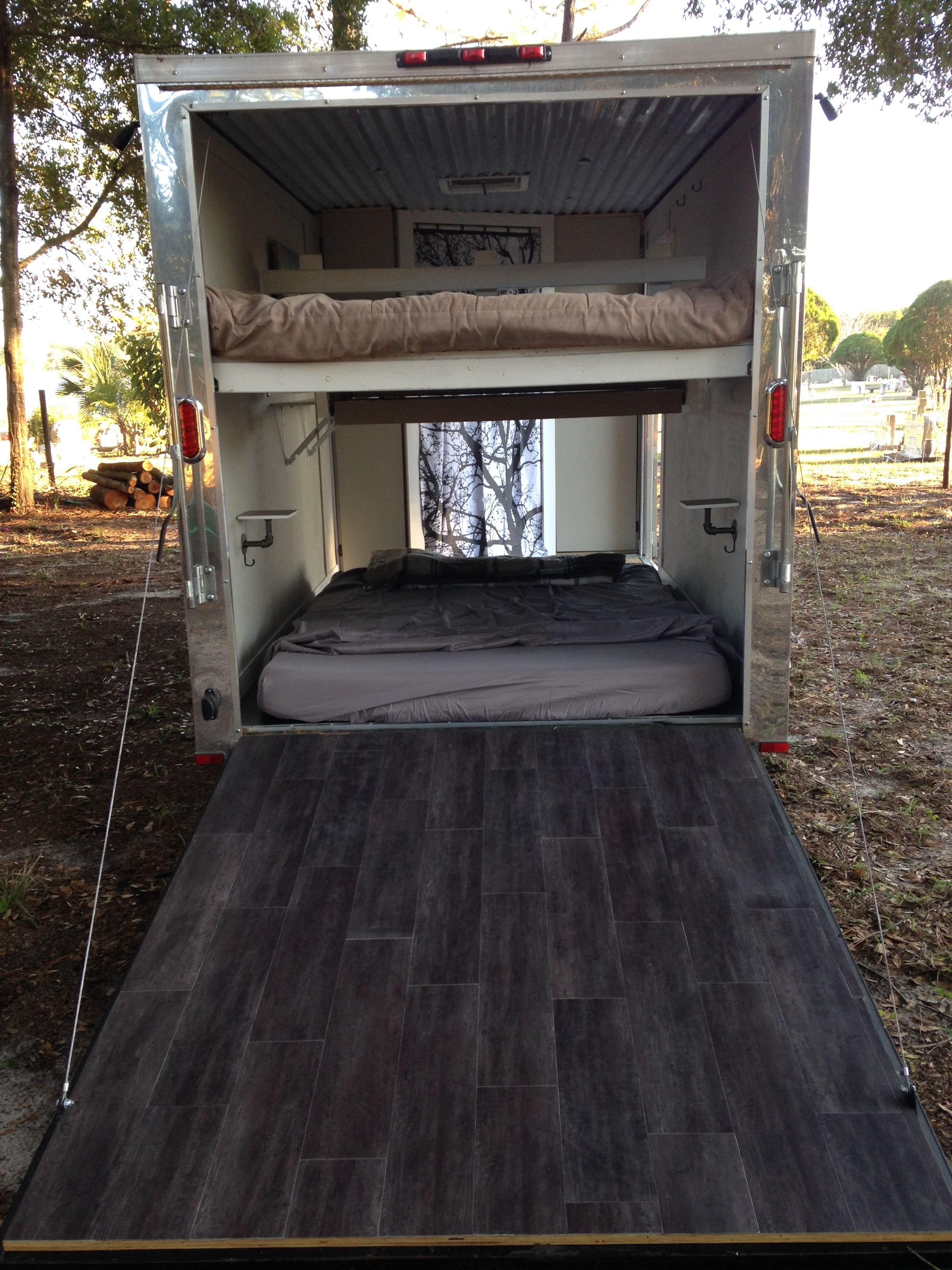 Small 6x14 Ft Enclosed Trailer Conversion To Camper Enclosed