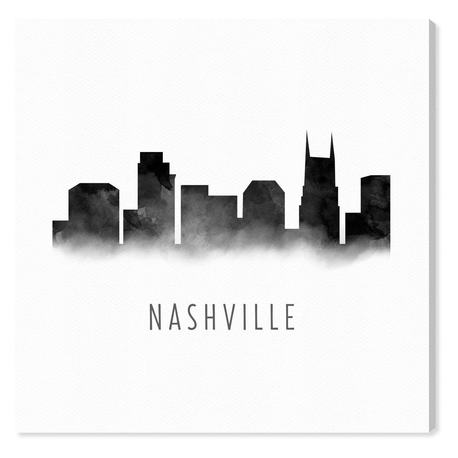 Guitar Nashville Skyline Metal Art Wall Decor Gift Idea