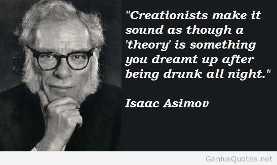 Image result for isaac asimov christians think theories