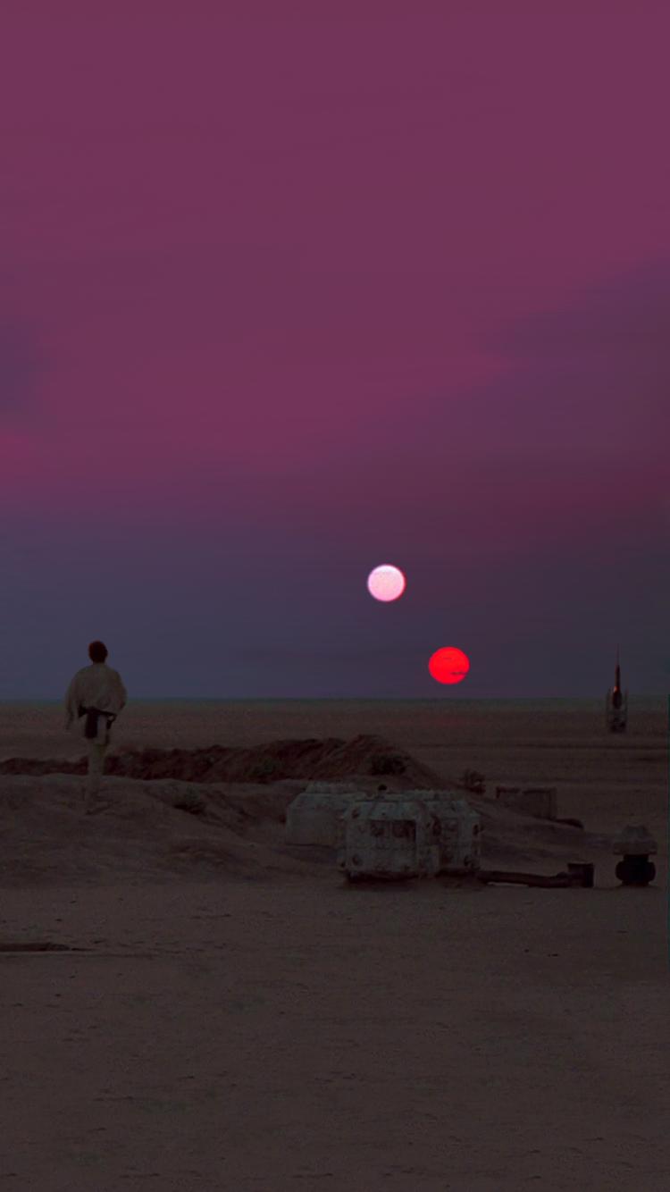 Star Wars Binary Sunset Iphone 6 Wallpaper 750x1334