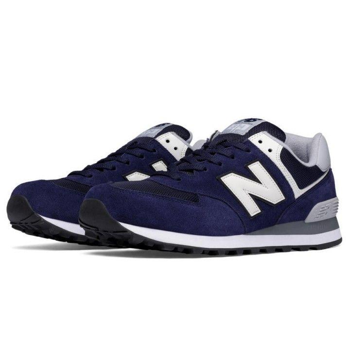 zapatillas new balance ml574 azul gris