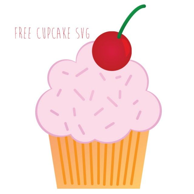 free cupcake svg cut file for scrapbooking and digital