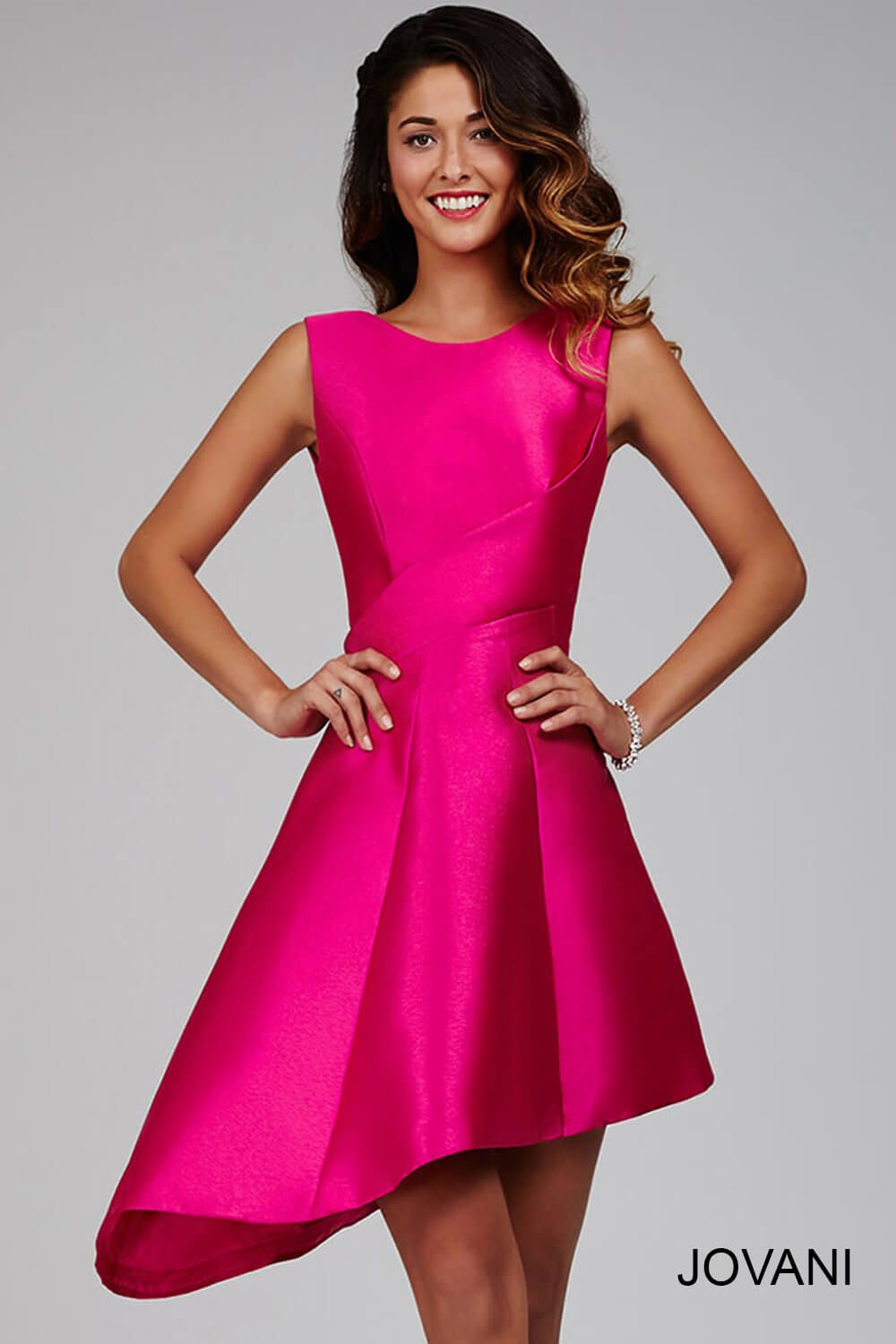 55cf01ad01b Rock this  jovani 214018 bright pink dress for your prom 2016.