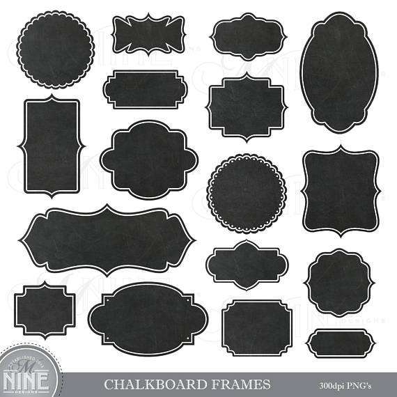 Chalkboard Frame Clip Art Chalkboard Borders Clipart Chalk Etsy In 2021 Digital Clip Art Clip Art Photo Album Scrapbooking