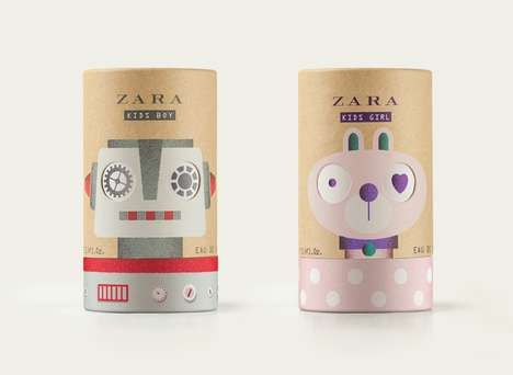 Zara's Fragrance for Kids Boasts Playful Packaging That Rotates   ZARA KIDS recently introduced a set of fragrance for kids that's packaged in playful cardboard tubes.  Two fragrances were designed for boys and girls between the ages of three and 14. In order to appeal to...