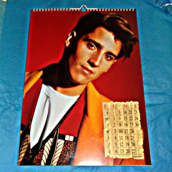 Rare New Kids On The Block Official 1992 By Owlvintagecalendars