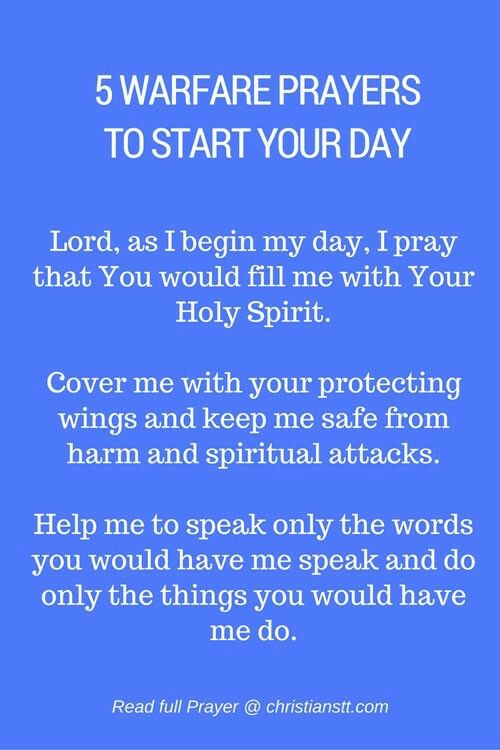 Pin by Karen Owens on Words to live By | Spiritual warfare prayers