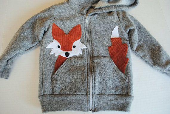 fox in the pocket kids hoodie - so cute!!