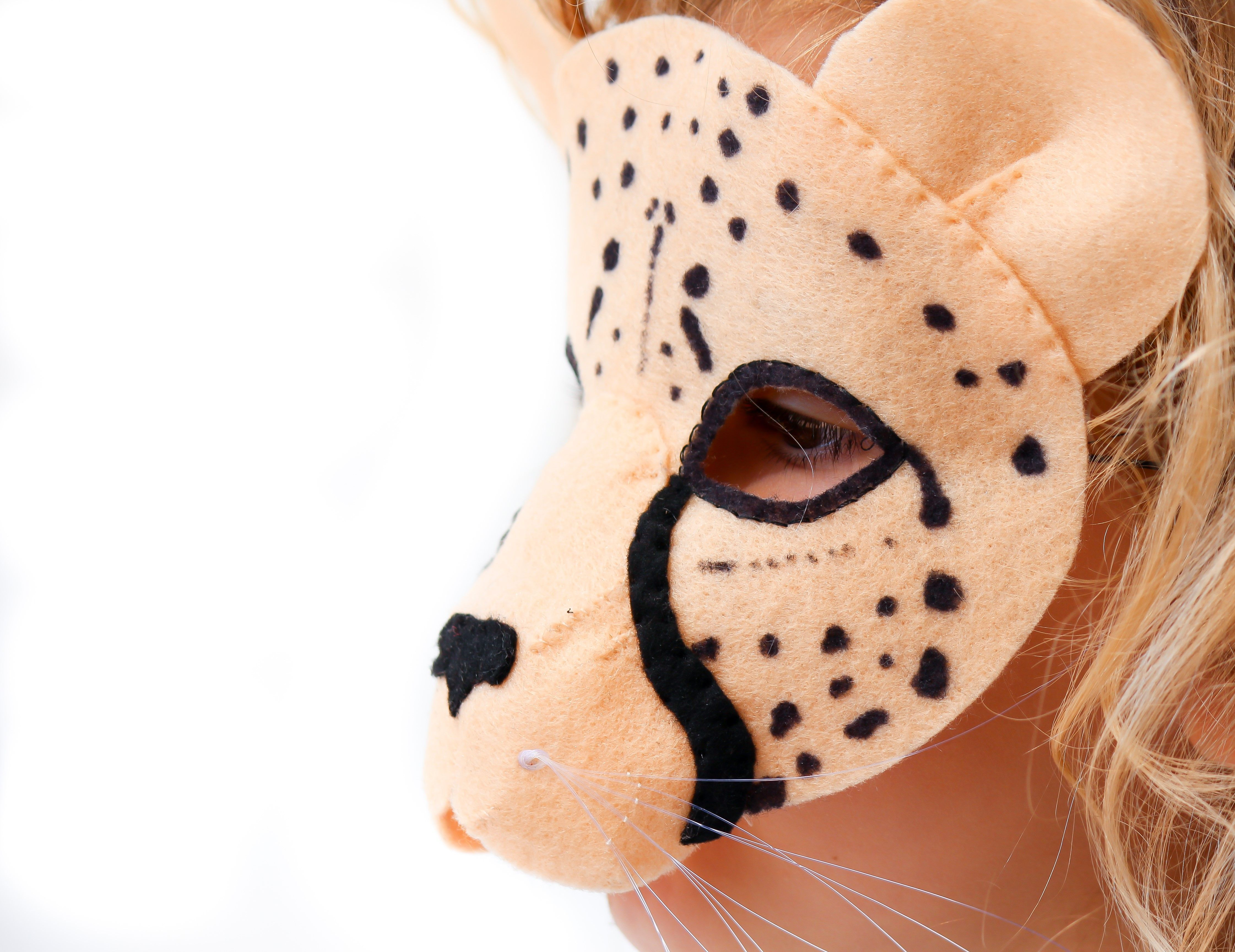 Cheetah Mask PATTERN Kids Felt Mask Sewing Pattern