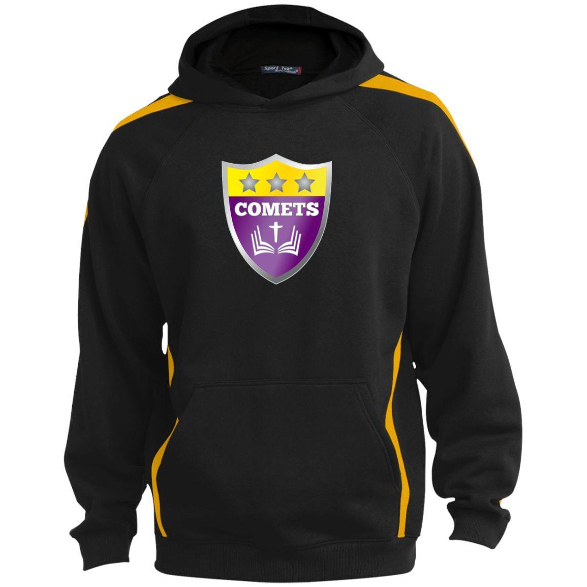 Shield TST265 Sport-Tek Unisex Tall Sleeve Stripe Sweatshirt w/Jersey Lined Hood