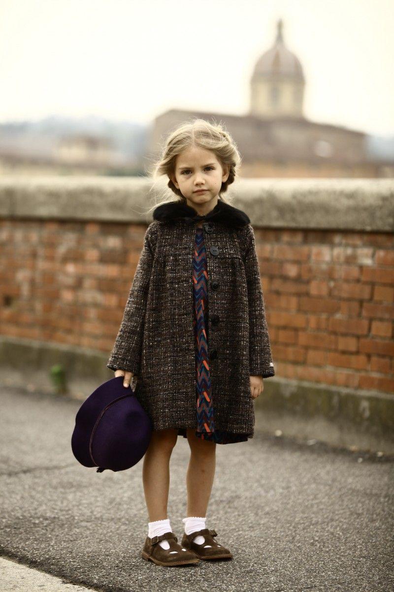 Abrigo manteau coat vestido niña estilo elegante dress girl