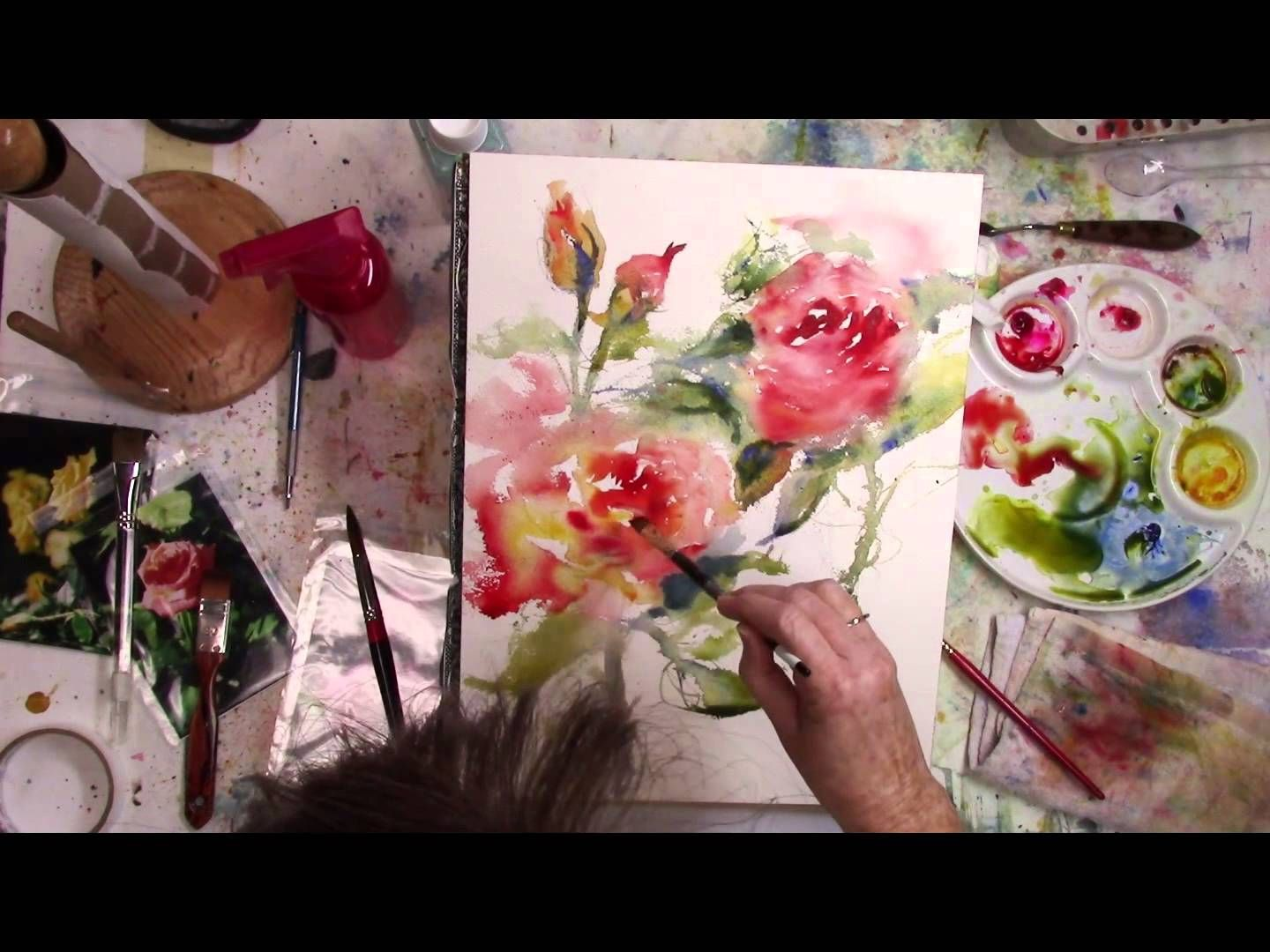 Colleen reynolds painting loose and intuitively in for Video tutorial on watercolor painting
