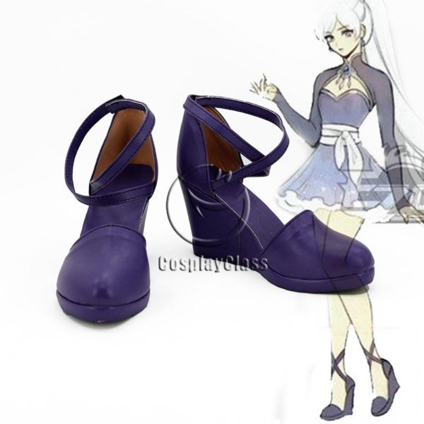 RWBY Volume 4 Weiss Schnee Purple Cosplay Shoes
