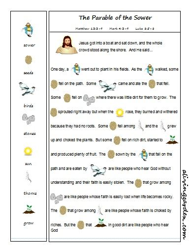 Parable Of The Sower Quotes With Page Numbers: Parable Of The Sower Rebus
