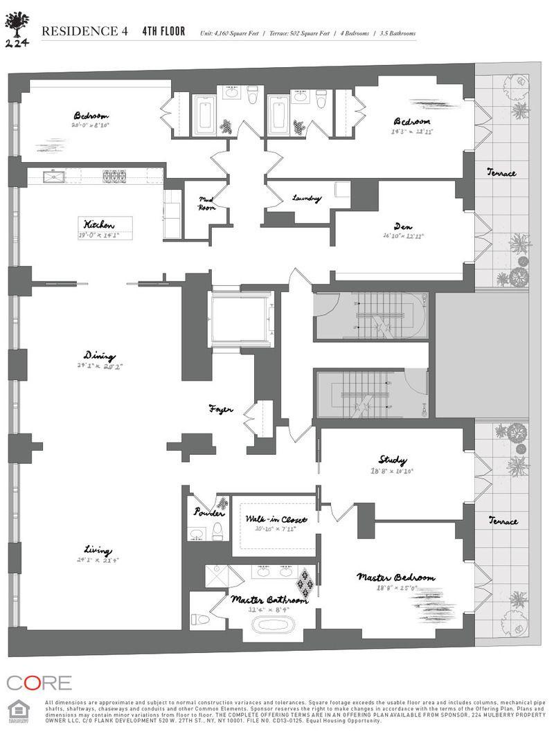 224 Mulberry St. 4  Condo Apartment Sale in Nolita, Manhattan  StreetEasy  Floor Plans in