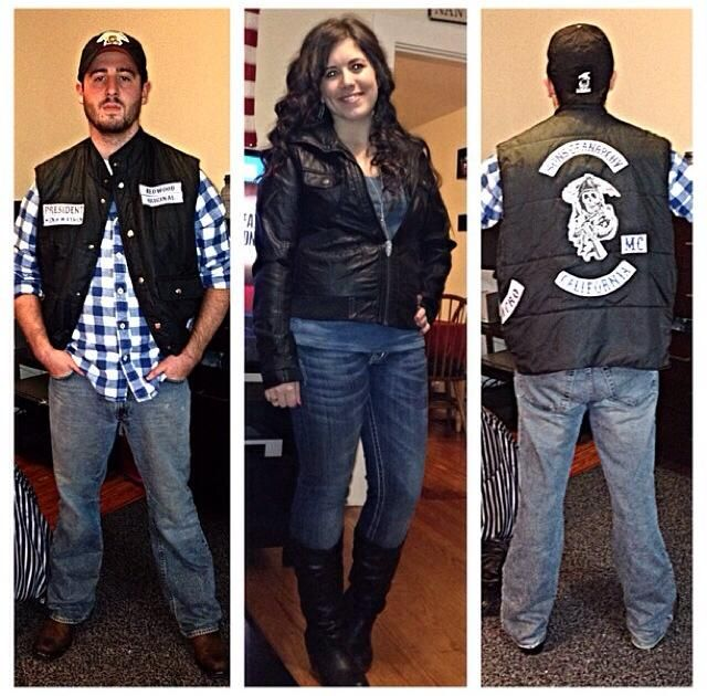 Jax and Tara Sons of Anarchy Homemade Halloween Costumes  sc 1 st  Pinterest & Jax and Tara Sons of Anarchy Homemade Halloween Costumes | Sons of ...