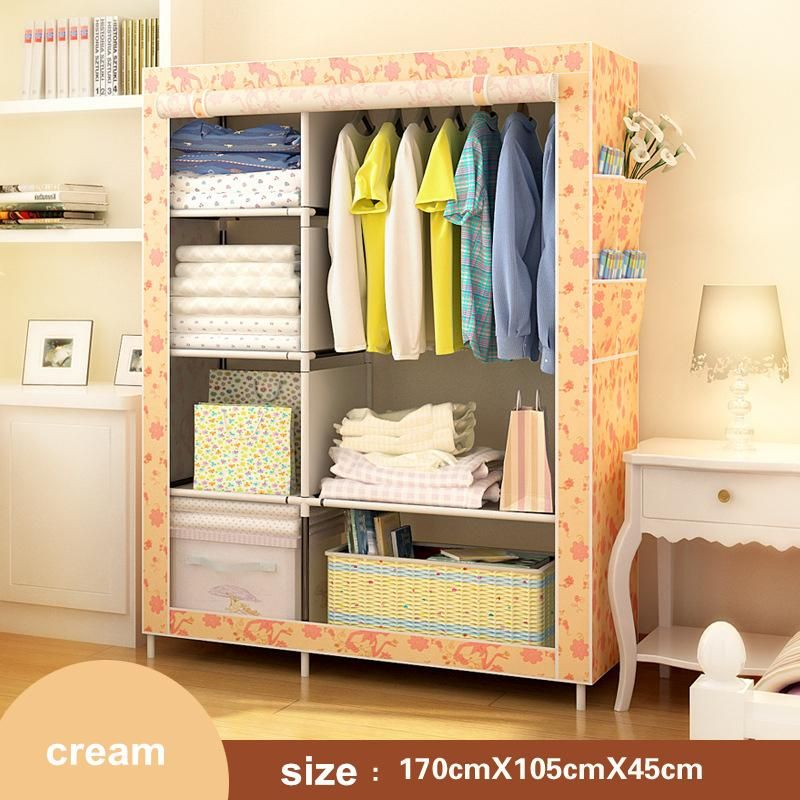 Multifunctio Simple Diy Wardrobe Folding Portable Clothes Closet Non Woven Wardrobe Fabric Clothes Storage Organize Cabin Clothes Storage Organizer Diy Wardrobe