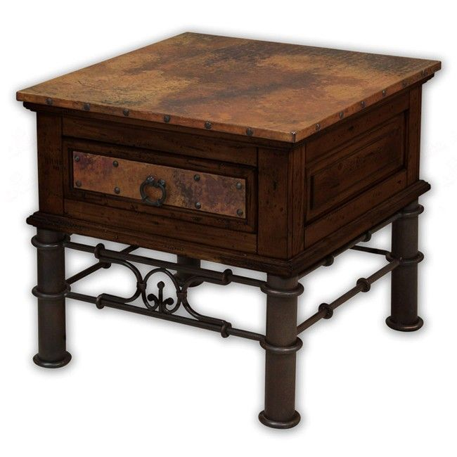 Best End Tables Rustic Valencia Copper Top End Table 400 x 300