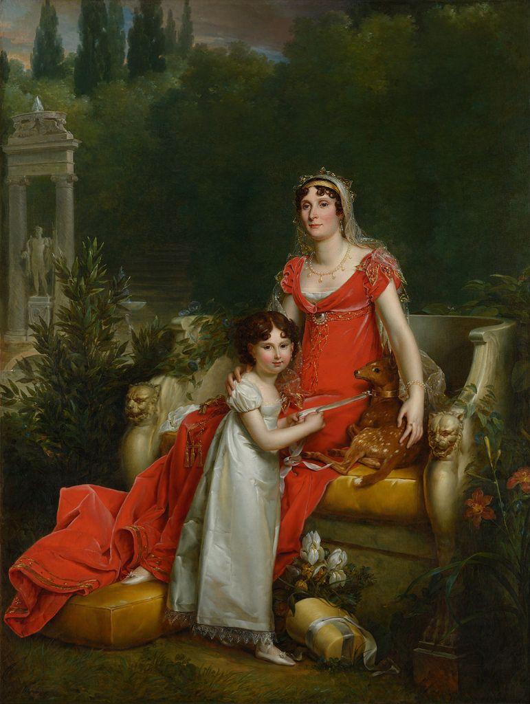 Maria Anna Bonaparte (1777-1820) and her daughter Elisa Napoleona Baciocchi (1806-1869)