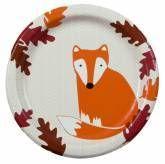 "Paper Plates 7"" Fox-pkg8  Also found at: http://www.horseandhound.com/i/3425/autumn-fox-luncheon-paper-plates.htm"
