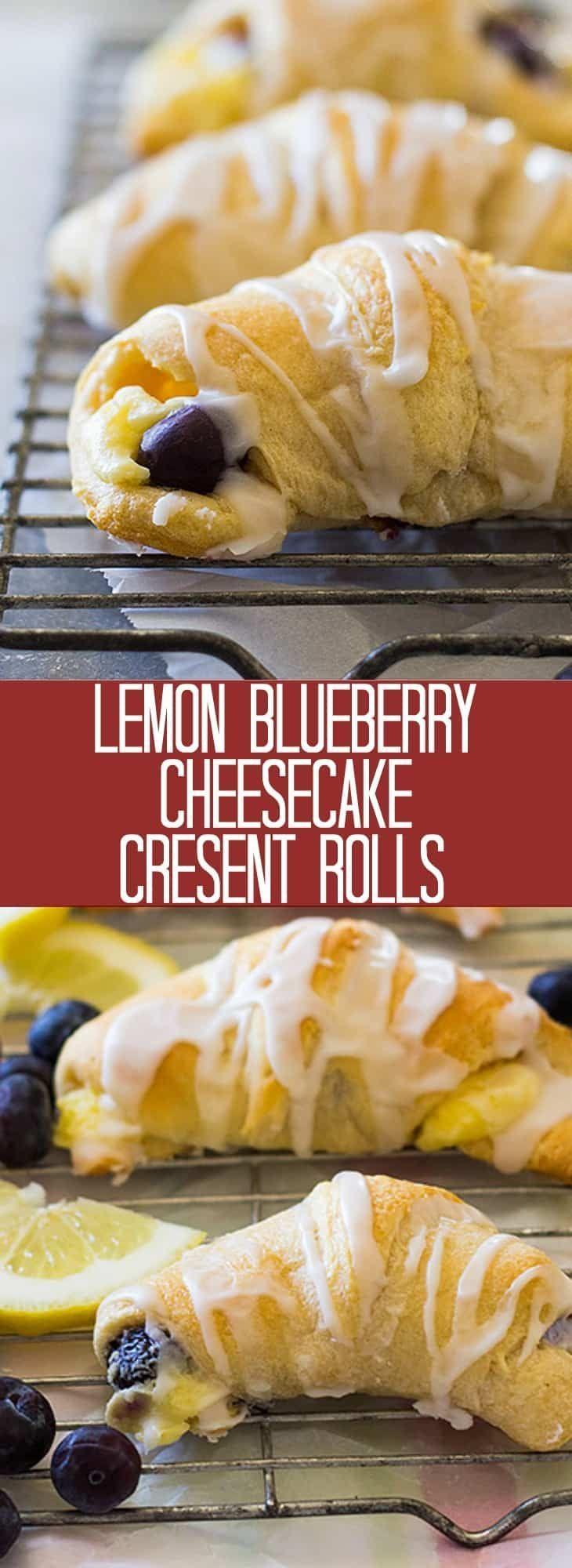 Diese Lemon Blueberry Cheesecake Crescent Rolls sind ein einfaches Rezept Sie These Lemon Blueberry Cheesecake Crescent Rolls are an easy recipe to make They Diese Lemon...
