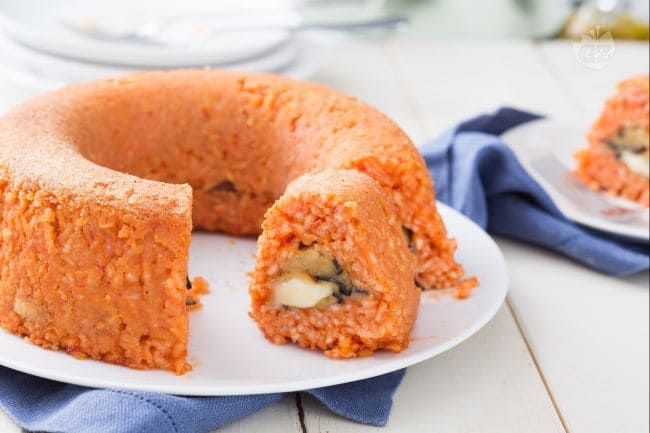 Photo of Rice donut stuffed with eggplants