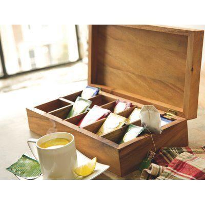 Bayou Breeze Bayou Breeze Woodard Tea Box Wooden Tea Box Tea Storage Tea Box
