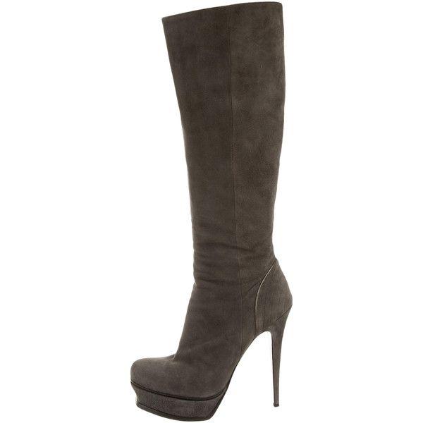 Pre-owned - Tribute leather boots Saint Laurent LygXM7kGC