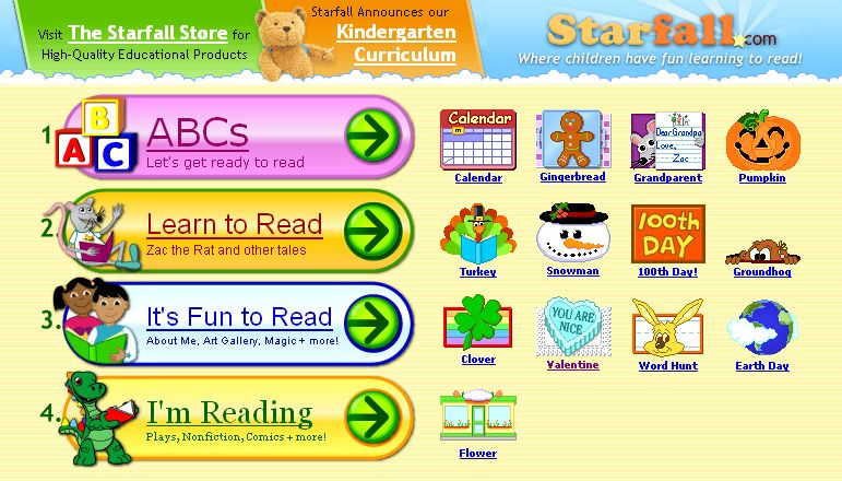 starfallcom a free website to teach children to read with phonics for - Starfall Printable Books