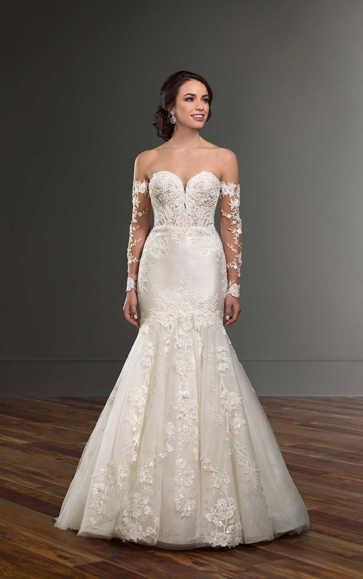 Mermaid Wedding Dress with Detachable Sleeves in 2020