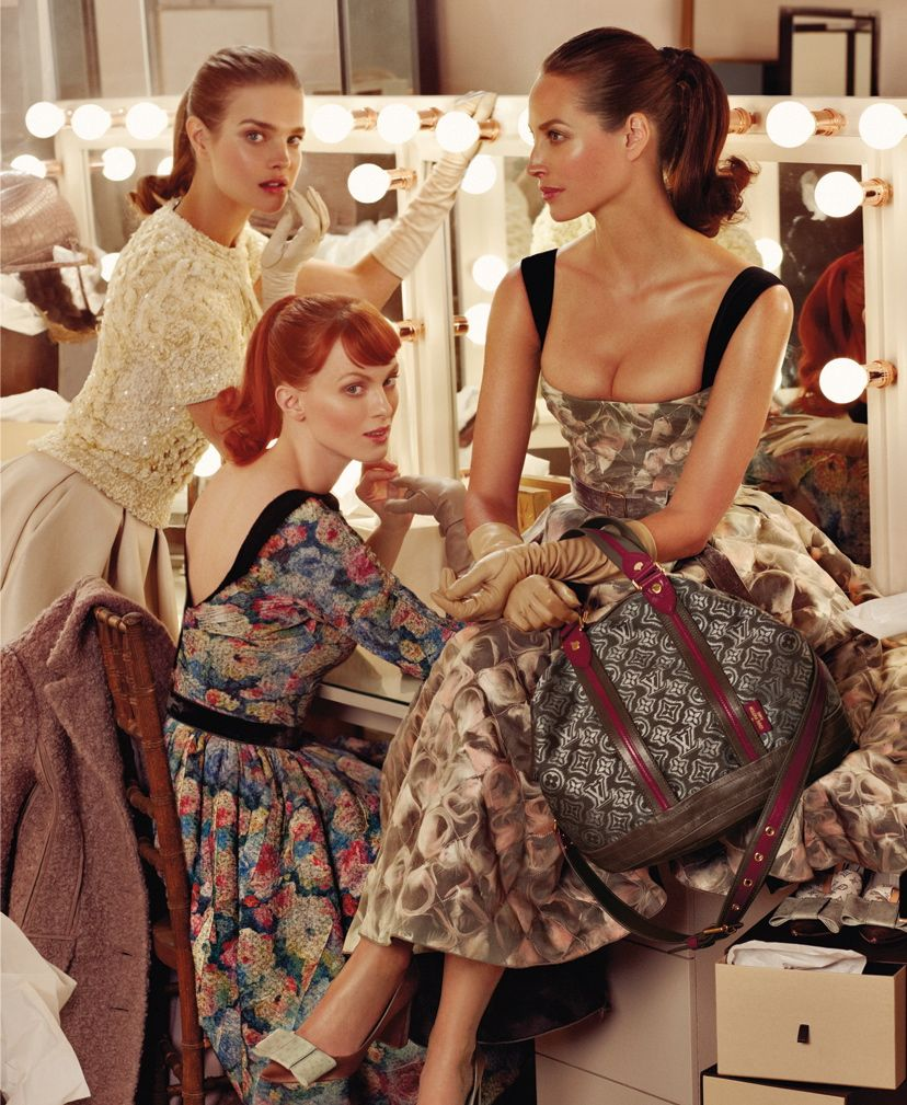 Louis Vuitton FW 2010 by Steven Meisel:Natalia Vodianova, Karen Elson & Christy Turlington