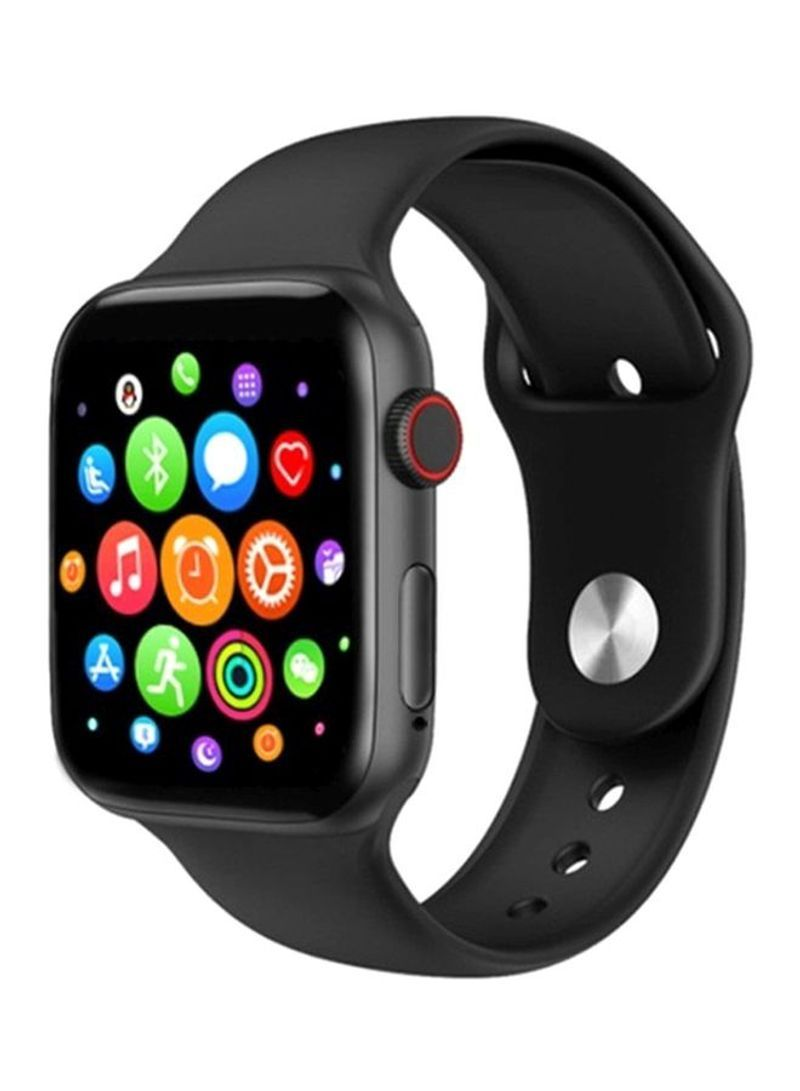 Shop T55 Series 5 Smart Watch With Replaceable Strap 44mm Black Online In Riyadh Jeddah And All Smart Watch Heart Rate Monitor Smart Watch Smart Watch Apple