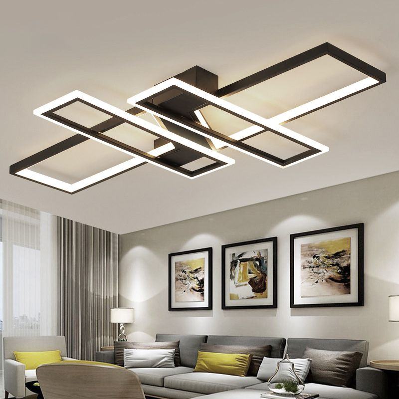 90cm 120cm Dimmable Square Rings Ceiling Lights For Living Room Bedroom Lamps Fixtures In 2021 Ceiling Lights Modern Ceiling Light Living Room Lighting