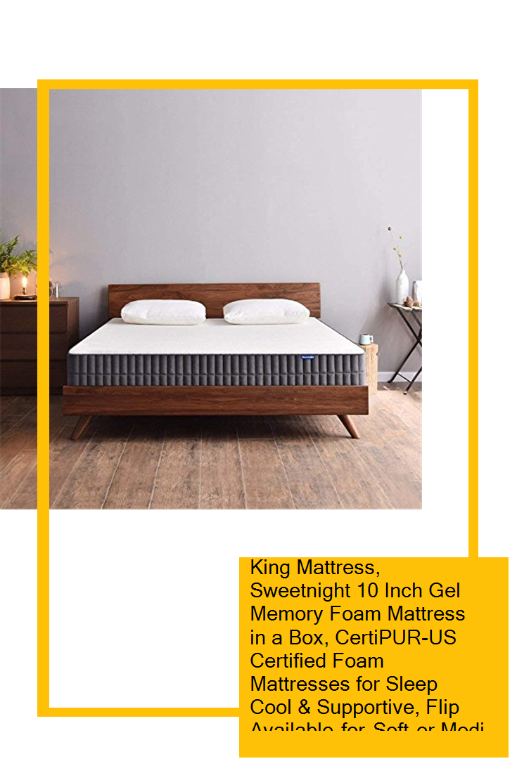 King Mattress Sweetnight 10 Inch Gel Memory Foam Mattress In A
