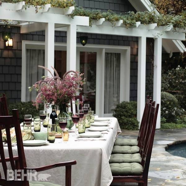 Love the arbor overlooking this dining area.