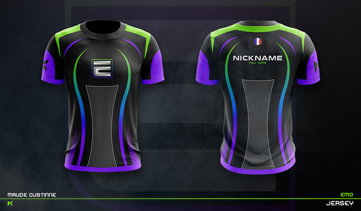 Download Jersey Esport Team Mockup On Behance Sports Jersey Design Sport Shirt Design Jersey Design