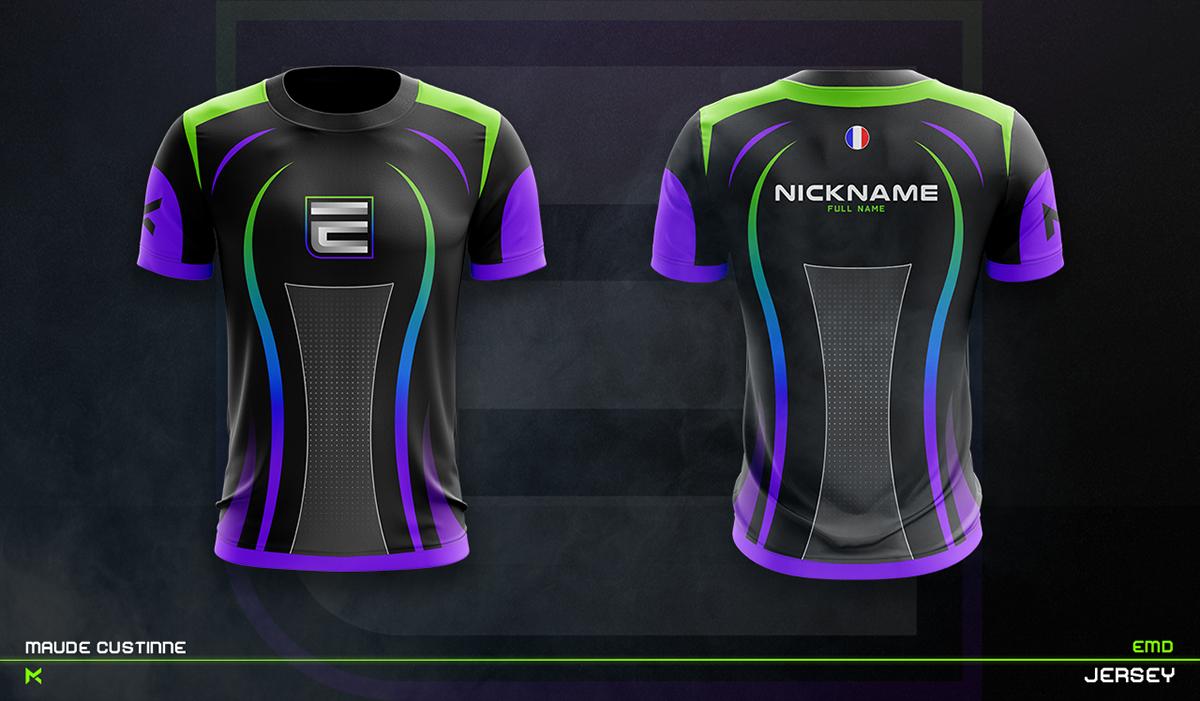 Download Jersey Esport Team Mockup On Behance Sports Jersey Design Sport Shirt Design Jersey Design