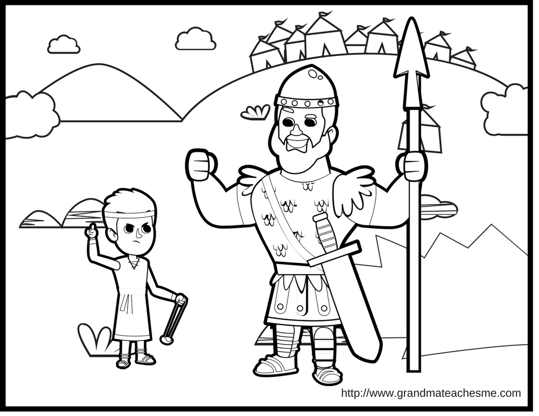 David Amp Goliath Coloring Page