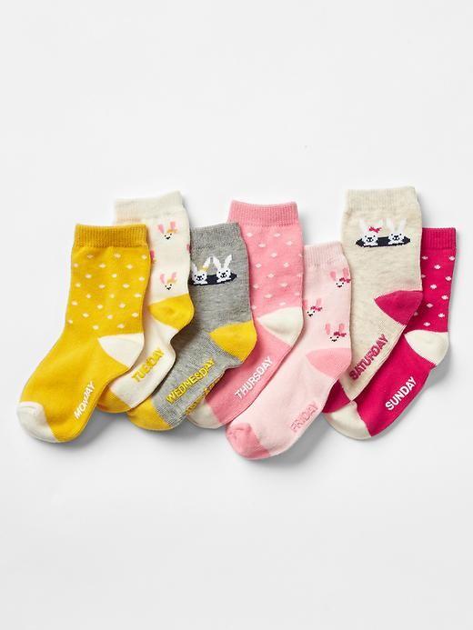 Days Of The Week Socks Dotty Bunny Days Of The Week Socks 7 Days Product Image Kids