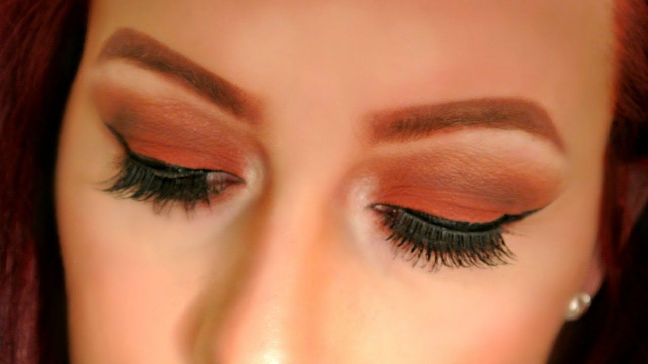 Matte Burnt Orange Red Smokey Eye Makeup Tutorial Youtube